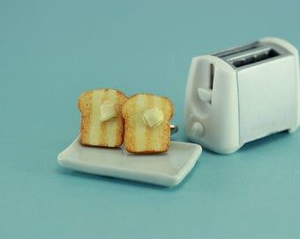 Buttered Toast Cufflinks