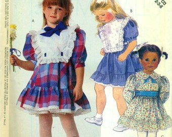 McCall's 3243 Ruffles & Lace Size 2-3-4 Dress  ©1987