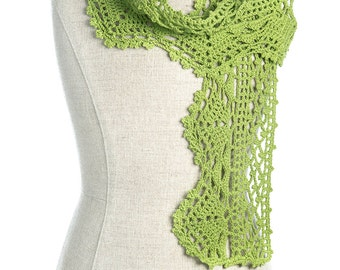 CROCHET PATTERN Primavera Scarf for Kids and Adult 3 Sizes PDF eBook Instant download