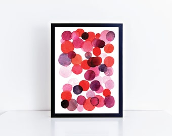 Bubbles Watercolor Giclee Print, Nursery Print, Kid's Room Decor, Home Decor, Fun Modern Art Print