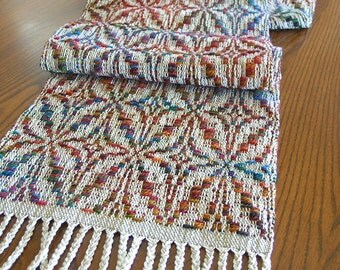 Handwoven Table Runner Home Decor Table Scarf Colorful Runner Wall Hanging Textile Housewarming Gift - Stargazer