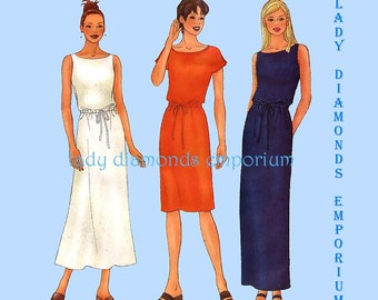 Butterick 6587 Womens 2 Hour Pullover Dress w Slim or Flared Skirt Options Plus Size 18 20 22 Bust 40 42 44 Sewing Pattern Uncut FF