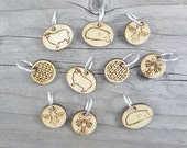 Stitch Markers - Set of Six Ring Style Markers