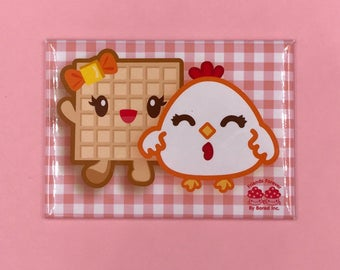 Chicken & Waffle BFF Magnet