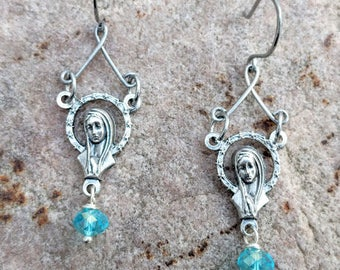 Blessed Mother Earrings~FREE SHIPPING!