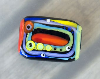 5 rooms -1 free shaped lampwork bead - Modern Glass Art by Michou P. Anderson