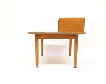 Vintage Danish Modern End Table In Teak