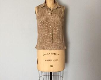 Ann Taylor silk top | honeycomb silk crop top