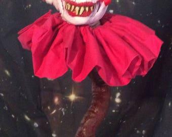 3 faced Popcorn Clown