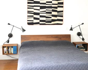 "Modern Quilt - Ellsworth // approx. 60"" x 54"" // CANOPYstudio Modern throw quilt // Sofa throw // Lap Quilt // Modern Quilt // Throw Blanket"
