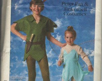 UNCUT Simplicity 7784 Disney Peter Pan and Tinkerbell Costume Pattern Size Adult Medium