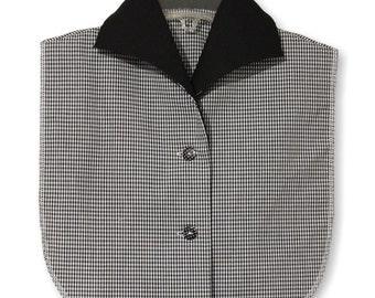 Black White Gingham Cotton Byron Collar Dickey