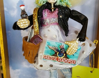 Day of the Dead Girl with Deadopoly Game Ornament