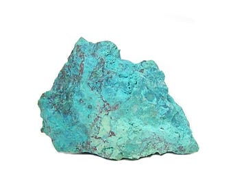 Blue Chrysocolla Copper Ore Nugget Mineral Specimen from Baghdad Mine Arizona Geo Stone Earth Nugget Display it or cut it