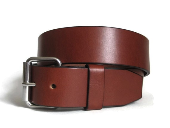 brown leather belt mens leather belt bridle leather belt thick