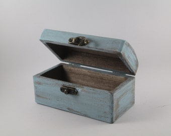 Ring Bearer Box Rustic Turquoise Ring Holder Driftwood Box Dancers Something Blue