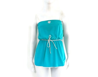 2 pc Skirted Swimsuit by Sea Waves Vintage Swimwear Old Store Dead Stock sz 8 #99