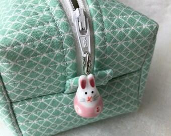 Bunny Zipper Charm