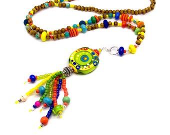 Cha Cha - Art Glass necklace - Michou Pascale Anderson - Brand: Sonic & Yoko