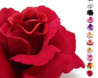 "3.75"" Silk Rose Heads (Pack of 4) - Fabric - Artificial Flower, Wholesale Lot, Wedding Decoration"
