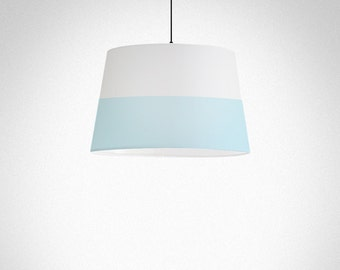 Pastel Lines | Lamp Shade, grey and blue pastel colours