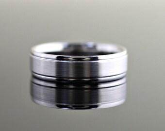 Men's Wedding Band Brushed Comfort Fit - 6mm