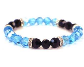 Carolina Panthers bracelet, Panthers jewelry, Teal and Black Bracelet
