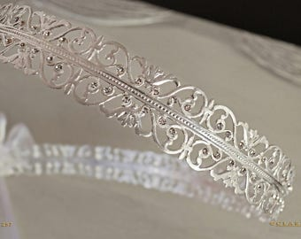 Swarovski Stefana Crowns & Keepsake Case. Greek Orthodox Wedding Crowns. Greek Wedding Stefanothiki and Stephana. Code 257