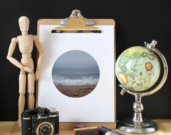Ocean poster, Waves, Water, Black white photography, Coastal Wall Decor, Beach Art, Scandinavian print, Digital Download, Modern Minimalist