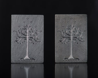 Tree of Gondor cufflinks, Lord of the Rings jewelry, LOTR cufflinks, gift for him, personalized jewelry, geek cufflinks, silver cufflinks