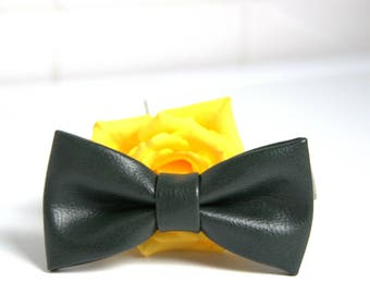 Bow Tie for Men. Faux leather Bow Tie