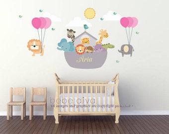 Noah Wall Sticker Etsy - Wall decals noah's ark