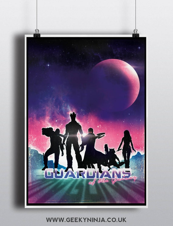 Guardians of the Galaxy inspired poster - Guardians of the Galaxy minimalist print