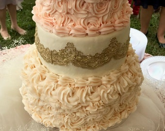 chantilly lace wedding cake marvelous edible lace top tea coffee confections by 12499