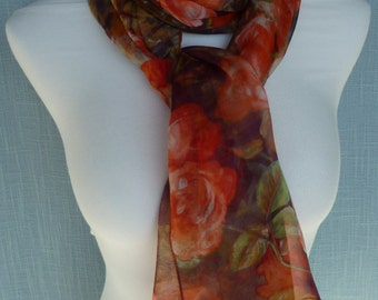 Roses Silk Scarf (more colours)