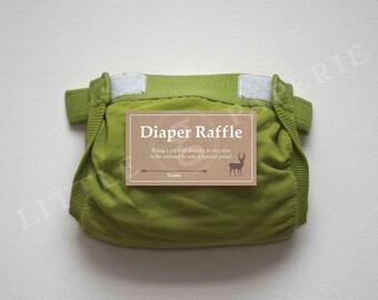 Diaper Raffle Tickets, Printable Diaper Raffle Card, Oh Deer Baby Shower, INSTANT DOWNLOAD