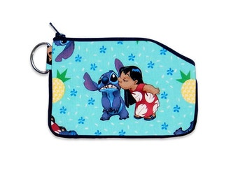 Disney Classic Lilo and Stitch Wallet Coin Pouch Purse Accessory Small Wallet Card Holder Coin Purse Accessory Small Clutch Wallet Movie