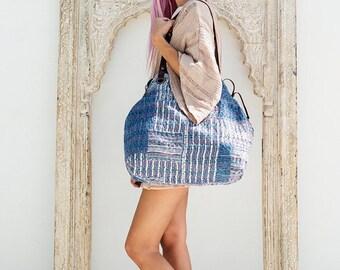 Bohemian Shoulder Bag - Tribal Bag - Tote Bag - Womens Bag - Ethnic Boho Gypsy Vintage Quilt Fabric Handbag