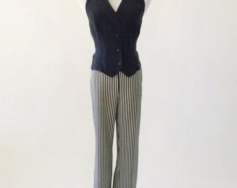 VTG DKNY Black Silk Halter Vest