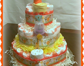 Zoofari Diaper Cake- 3-Tier