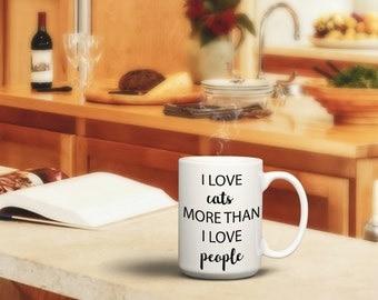 Cat Mug Cute, Coffee Cup Cat Gift, Kitty Mug, Funny Cat Coffee Mug, Cute Cat Mug, Funny Cat Coffee Mug, Mugs for Cat Lovers, Cat Mug