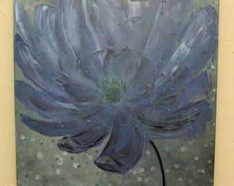 Oil on canvas Painting flower Original oil flower painting on canvas Flower hand painted Knife painting Painting flowers Oil painting