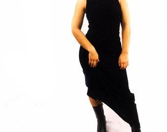 Midnight Blue Velvet Maxi Dress Size Medium (5/6)