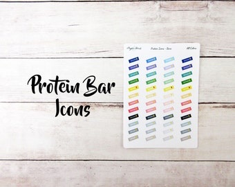 Protein Bar Icons   Fitness Stickers   Planner Stickers