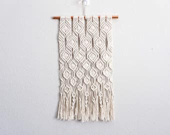 "FALLING LEAVES |:| macrame wall hanging | 15"" wide 