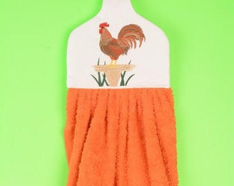 Rooster hanging towel