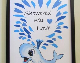 Whale Nursery Decor/Baby Shower Print/ Nursery Wall Art