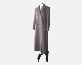 SALE - 1990s Jones New York Taupe Long Coat