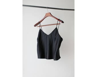 1990s Sheer Satin Camisole Top