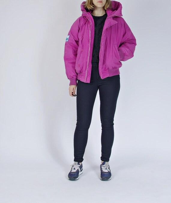 SALE - 80s Snow-line Oldschool Sportswear Purple Pink Down Jacket / Size S/M